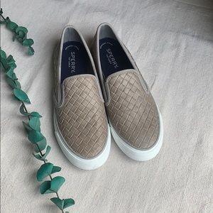 The Sperry® Seaside Emboss Weave slip-on shoe